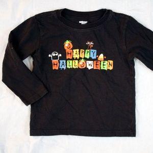 "Miniwear 48 Months Shirt Black ""Happy Halloween"""